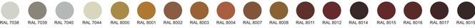 Водосточные трубы из оцинковки- покраска RAL